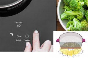 Thiết bị hoạt động dựa trên nguyên lý cảm ứng điện từ để nấu chín thức ăn